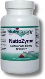 Nutricology's Nattozyme 50 Mg Nattokinase Nsk-sd 300vcaps