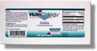 Nutricology's Sam-e 200mg 20tabs