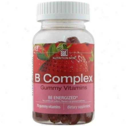 Nutrition Now's B Complex Gummy Vitamins Strawberry 70tbs