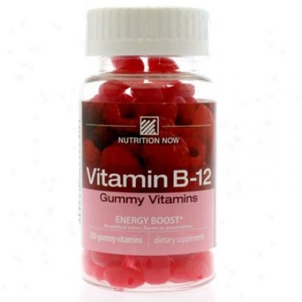 Nutritino Now's Vitamin B-12 Gummy Vitamins Raspberry 100tabs