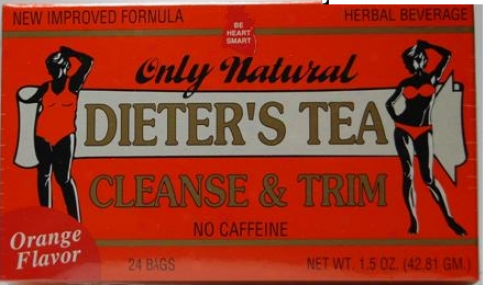 Only Natural's Cleansing Diet Tea (orange) 24 Bags