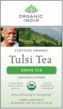 Radical India's Tulsi Tea Organized Green 18ct