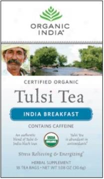 Organic India's Tulsi Tea Organic India Breakfast 18ct