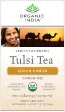 Organic India's Tulsi Tea Organic Lemon Ginger 18ct