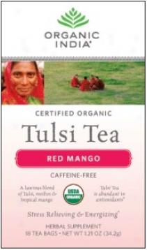 Organic India's Tulsi Tea Organiv Red Mango 18ct