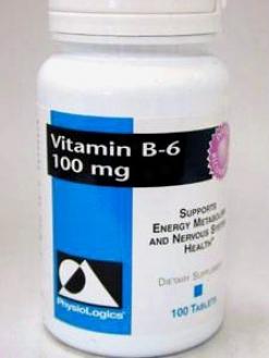 Physiologic's B- 6 10 Mg 100 Tabs