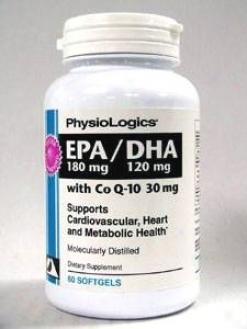 Physiologic's Epa 180 Mg/dha 120 Mg With Coq-10 60 Caps