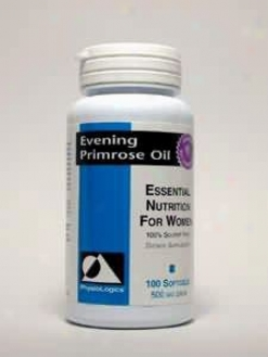 Physiologic's Evening Primrose Oil 500 Mg 100 Gels