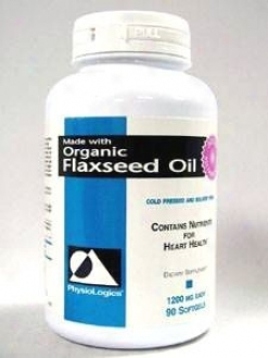 Physiologic's Organic Flaxseed Oil 1200 Mg 90 Gels