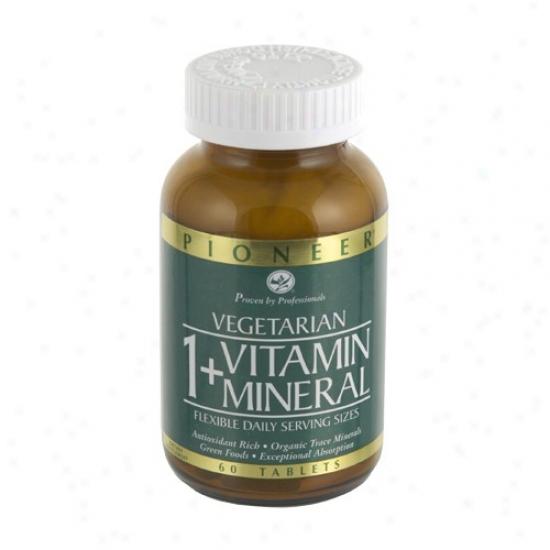 Pioneer's 1+ Vitamin/mineral W/ Iron (#20030) 60tabs