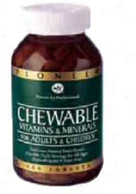 Pioneer's Chewable Vitamin & Minerals W/iron 90vtabs