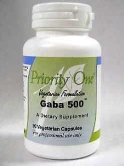 Priority One Vitamin's Gaba 500 500 Mg 90 Cap