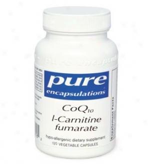 Pure Encap's Coqq10 L-carnitine Fumaarate 120vcaps