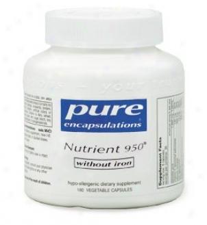 Pure Encap's Nutrient 950 Without Iron 360vcaps