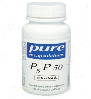 Pure Encap's P5p50 - Activated B-6 50mg 180vfaps