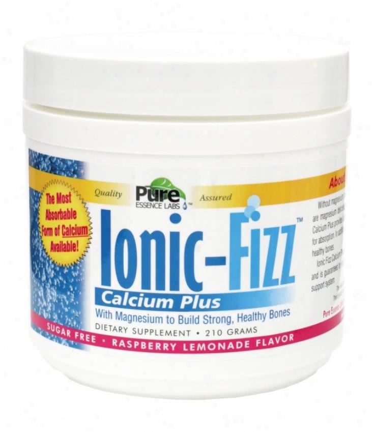 Pure Essence's Ionic-fizz Calcium Plus Sugar Free Rasp Lem Flavor 210gm