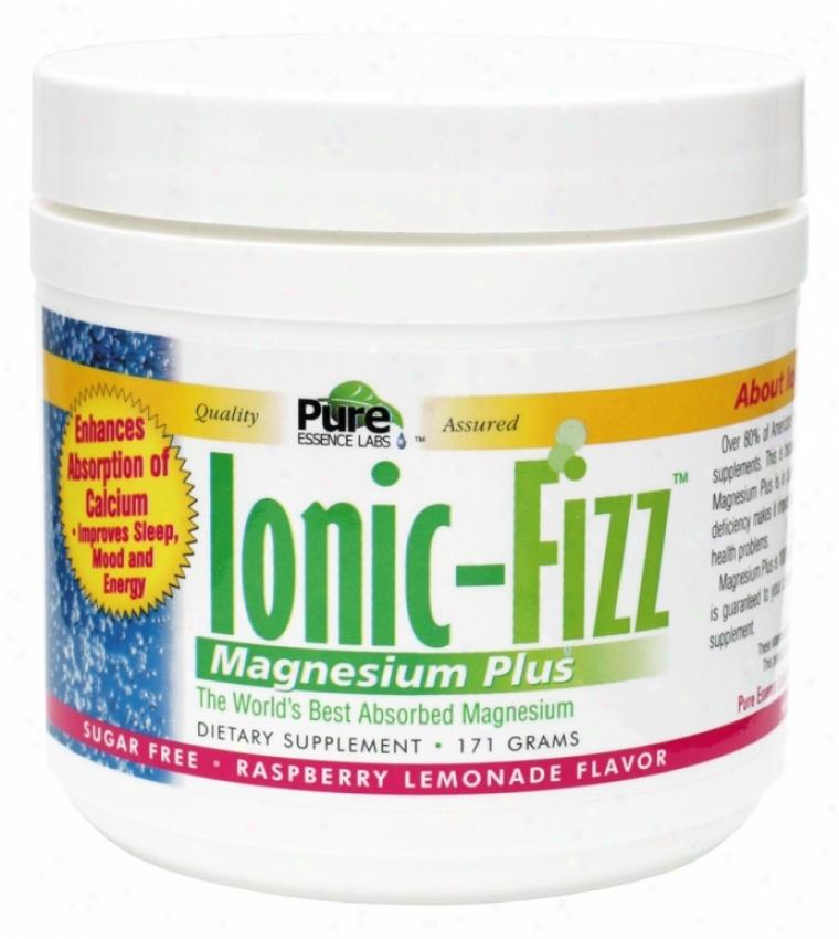 Pure Essennce's Ionic-fizz Mag Plus Sugar Free Rasp Lem Flavor 171gm