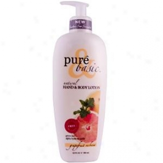 Pure&basic's Lotion Hand/body Fuji Grapefruit Verb 12oz