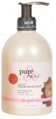 Pure&basi'cs Soap Liquid Hand Fuji Appleberry 12.5oz