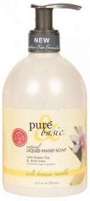 Pure&basic's Soap Mellifluous Hand Wild Banana/vanilla 12.5oz