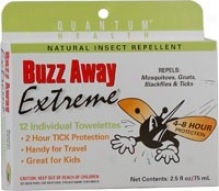 Quantum's Buzz Away Outdoor Protection Towelettes 12/pack