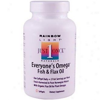 Rainbow Light's Everyone's Omega Fish & Flax Oil 60sg