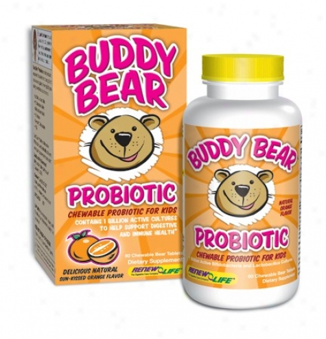 Renew Life's Buddy Bear Probiotic 60 Tabs