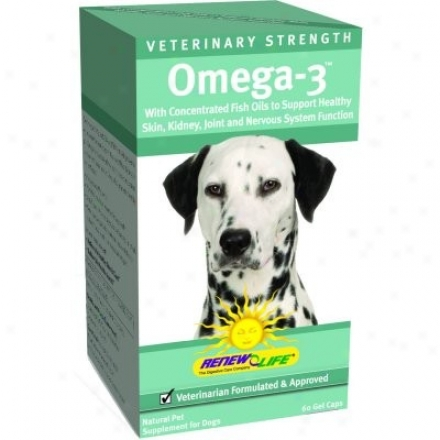 Renew Life's Veterinary Strength Omega-3 For Pets Dogs 60sg