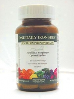 Rectitude Food's One Daily Iron Free 30 Tabs