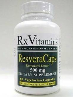 Rx Vitamin's Resveracaps 500mg 60vcaps