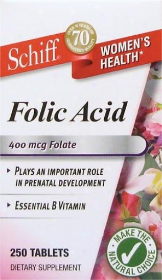 Schiff's Folic Sour 400mcg 250tas