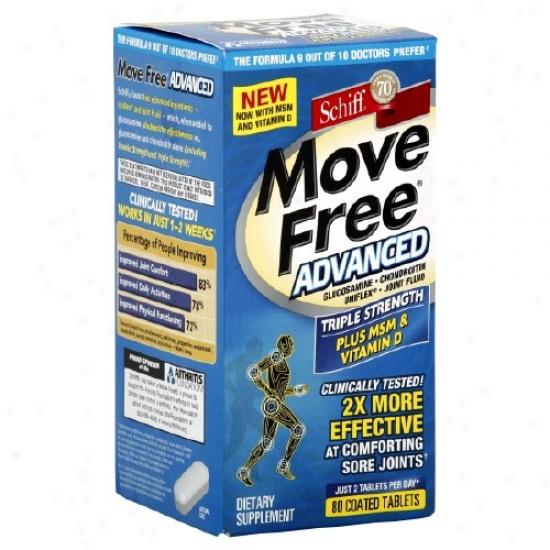 Schiff's Move Free Advanced More Msm & Vitamin D 80tabs