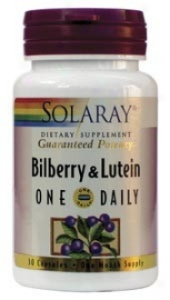 Solaray's One Diurnal Bilberry & Luteon 160 Mg 30caps