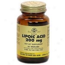 Solgar Alpha Lipoic Acid 200mg 50vcaps~