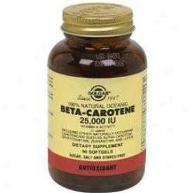 Solgar Beta Carotene 25oooiu 90sg - Exp 10/10