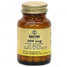 Solgar Biotin Tabs 300mcg 100tabs~