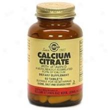 Solgar Calcium Citrate 60tabs~
