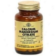Solgar Cacium/magnesium Citrate 50tabs~