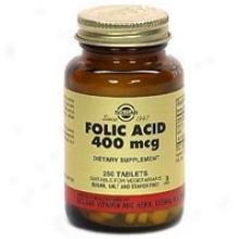 Solgar Folic Acid 400mcg 250tabs~