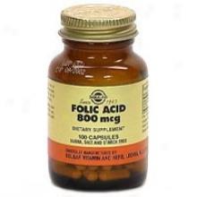 Solgar Folic Acid 800mcg 100caps~