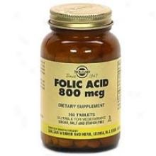 Solgar Folic Acid 800mcg 250tabs~