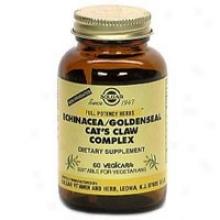 Solgar Fp Echinacea/goldensesl/cat's Claw Fp 60vcaps~
