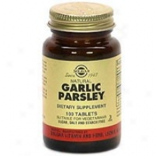 Solgar Garlic/parsley 100tabs~