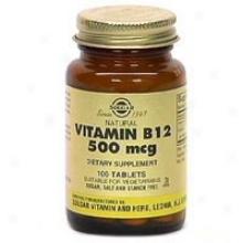 Solgar Vitamin B12 500mcg 100tabs