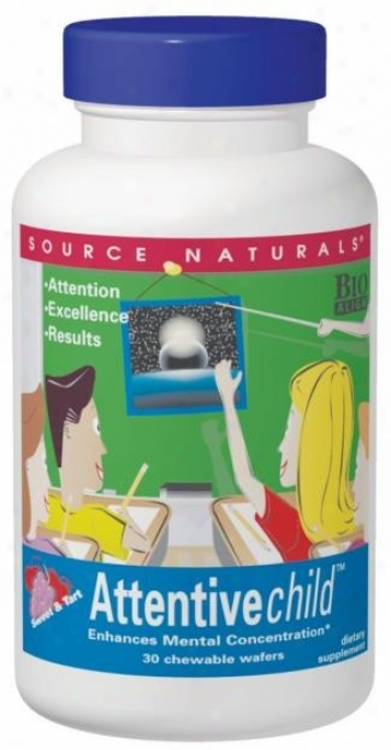 Source Naturals Attentive Child Chewable 120wafers