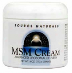 Source Naturals Msm Joint Response Cream 4oz