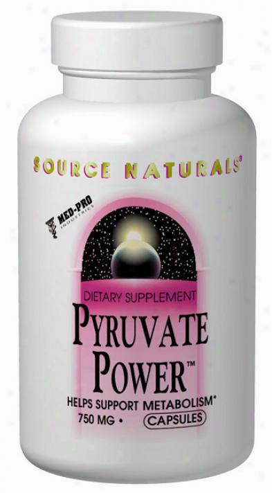 Sourve Naturals Pyruvate Powerã¿â¿â¾ 750mg 30caps