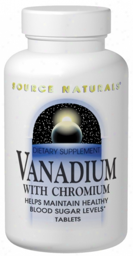 Source Naturals Vanadium W/chromium 180tabs