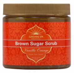 Sunshine Spa's Scrub Brown Sugar Vanilla Orange 16oz