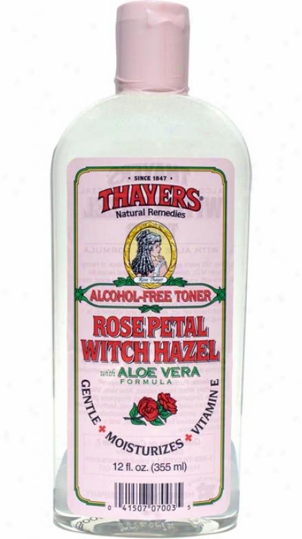 Thayers Witch Hazel Alcohol-free Rose W/ Aloe Vera 12 Fl Oz